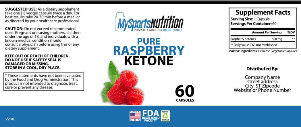Private Label Raspberry Ketone Pure My Sports Nutrition