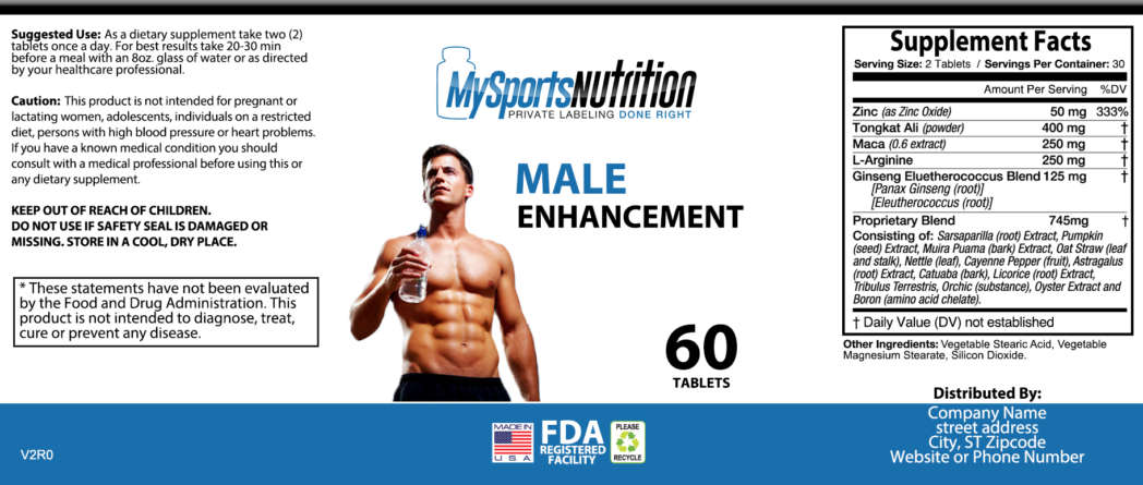 Private Label Male Enhancement Vitamin Supplement My