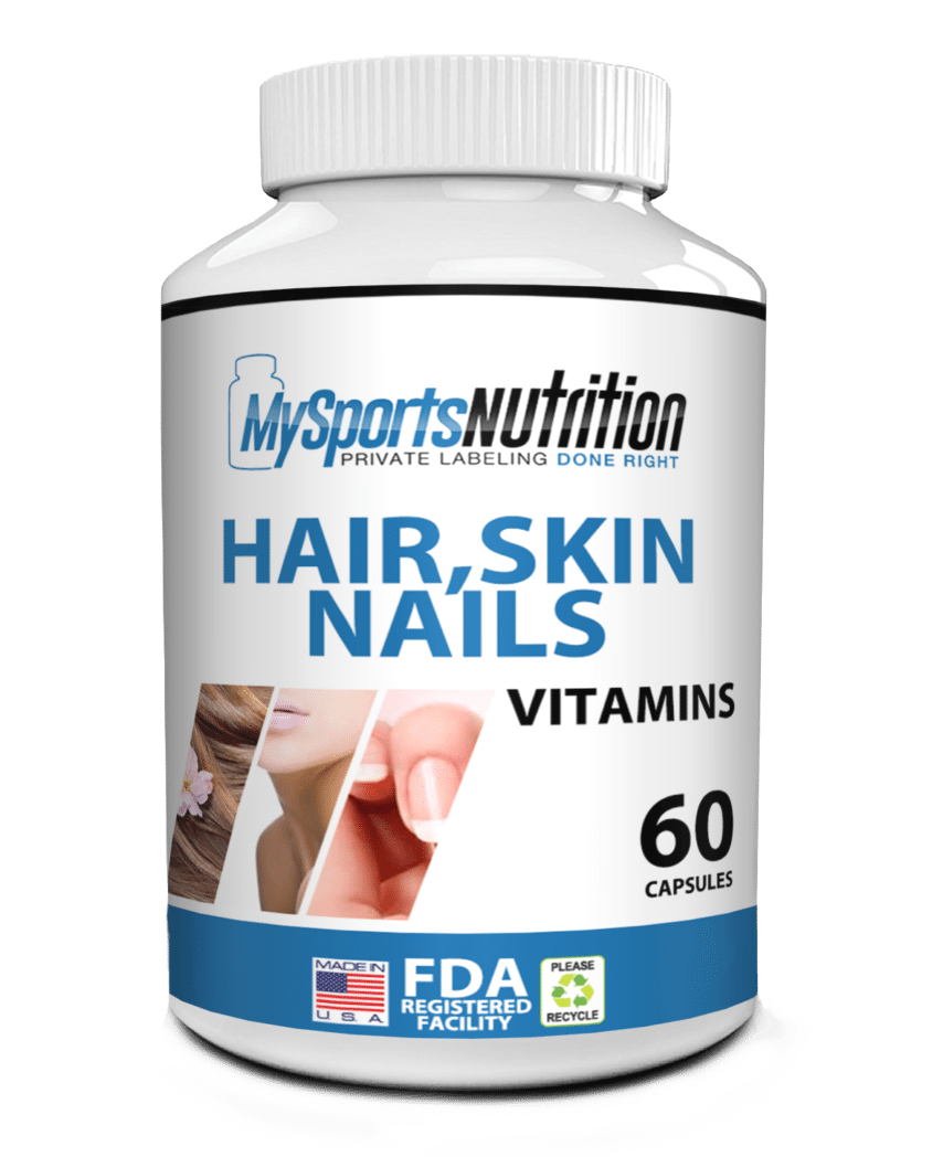 Private Label Hair, Skin & Nails Vitamin Supplement | My